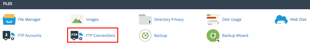 cpanel ftp connections
