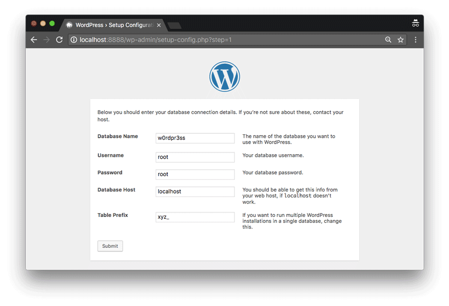 Install WordPress di komputer via MAMP