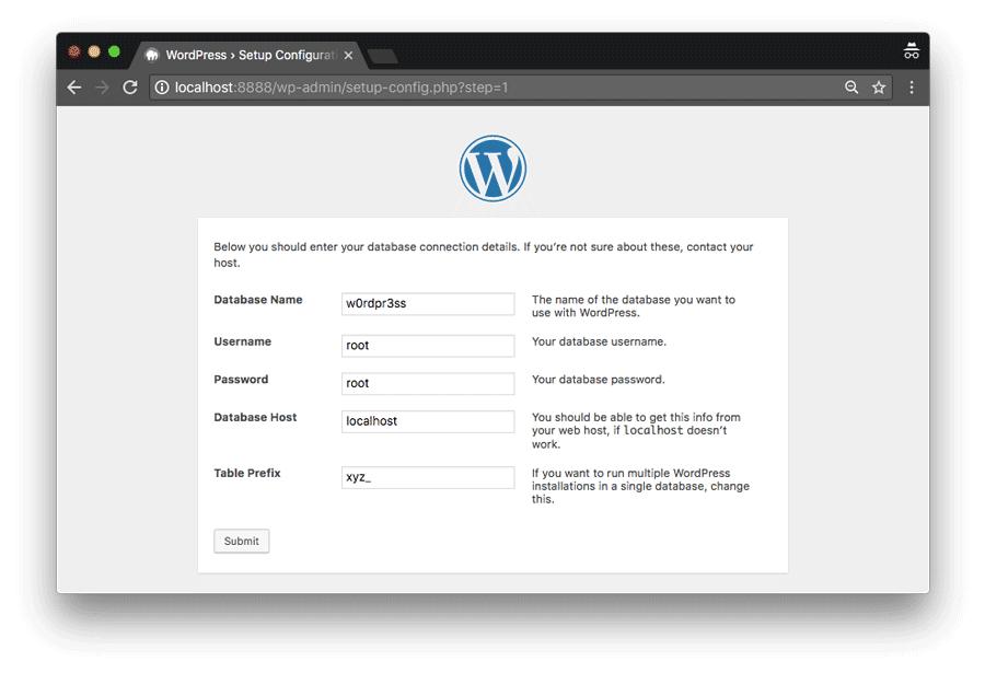 Install WordPress di komputer via MAMP
