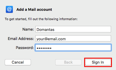 mac mail add mail account details