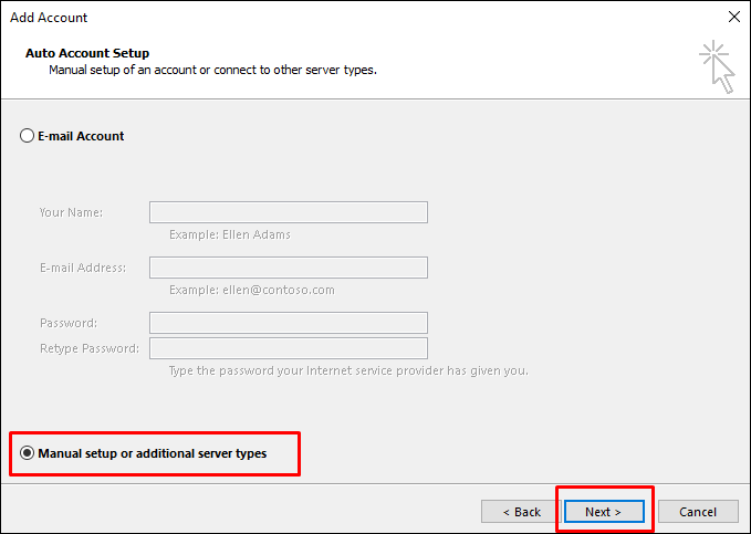 mail in outlook6