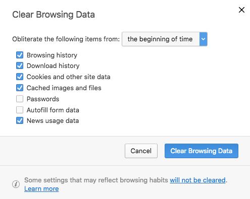 Cara Menghapus Cache Browser Opera