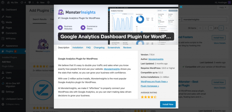 Plugin MonsterInsights
