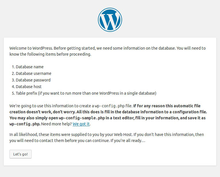 5-minute installation wizard WordPress di Ubuntu VPS