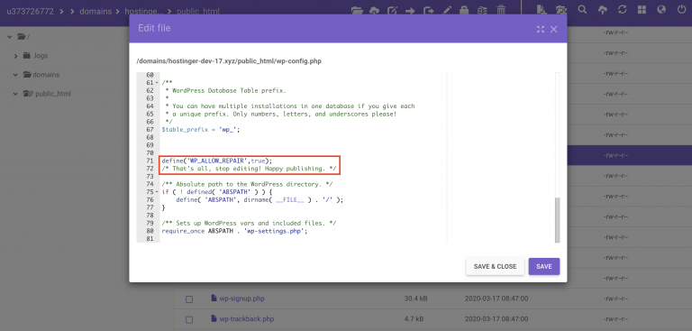 Fungsi define allow untuk cara mengatasi error establishing a database connection