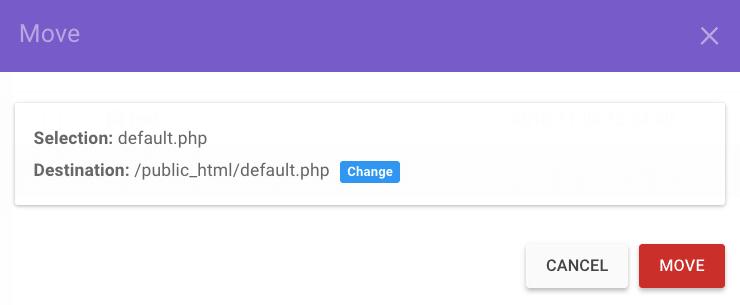 Memindahkan file ke public_html