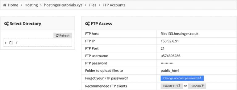 Mencari informasi FTP