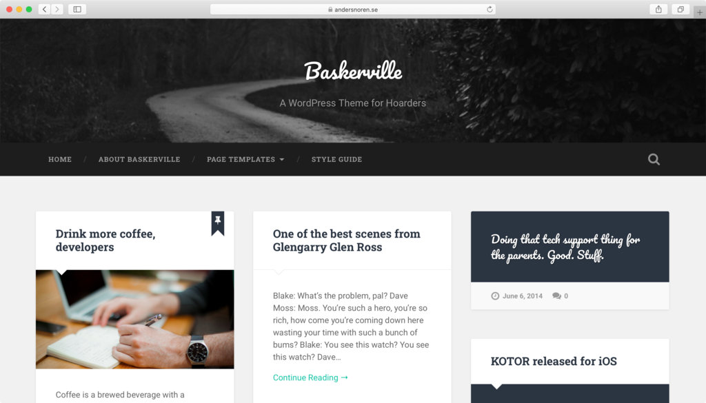 tema wordpress baskerville