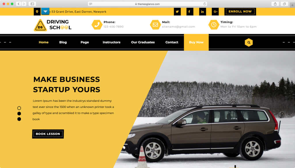 tema wordpress gratis driving school lite