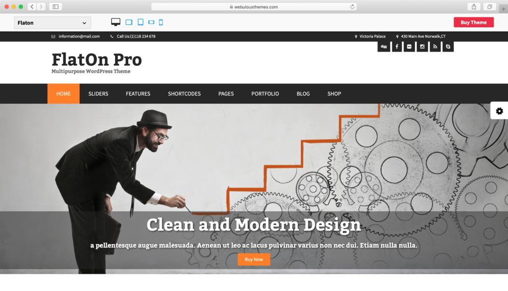 tema flaton pro untuk wordpress
