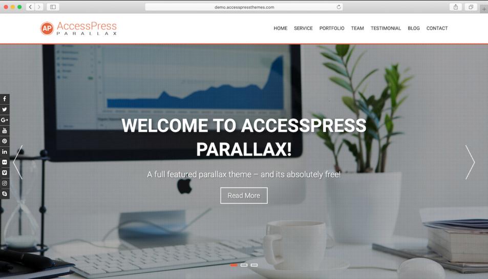 tema wordpress terbaik accesspress parallax