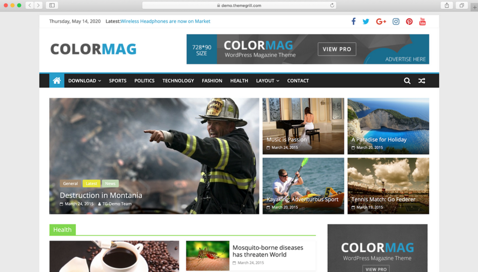 tema wordpress gratis colormag