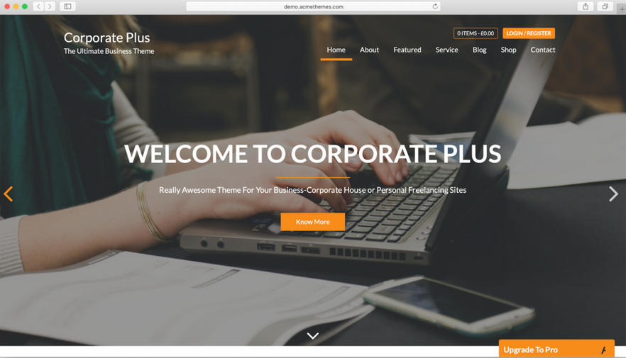 tema wordpress gratis corporate plus