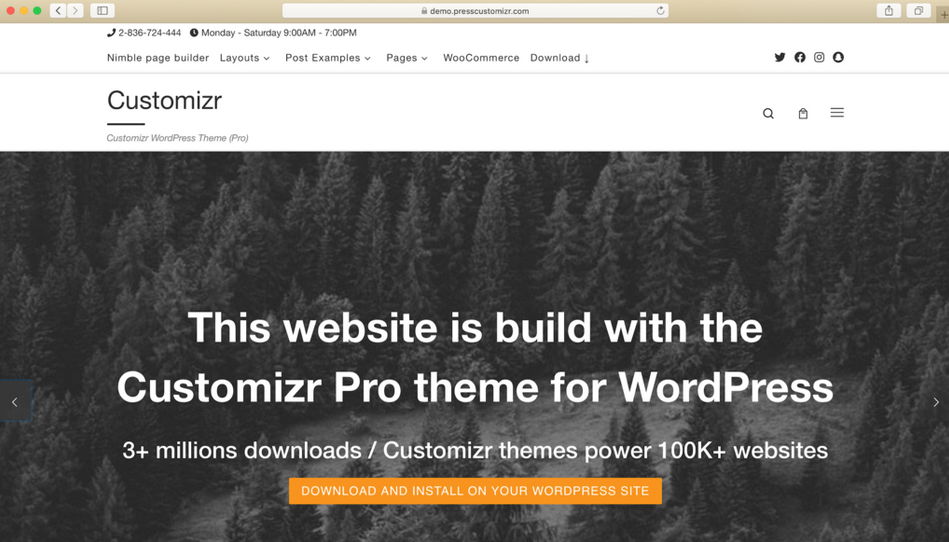 tema wordpress gratis customizr