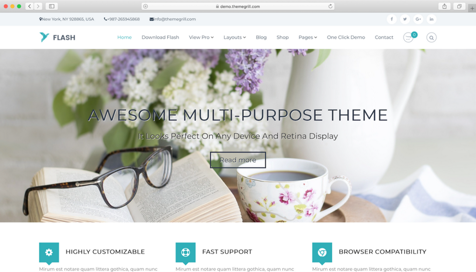 tema wordpress gratis flash