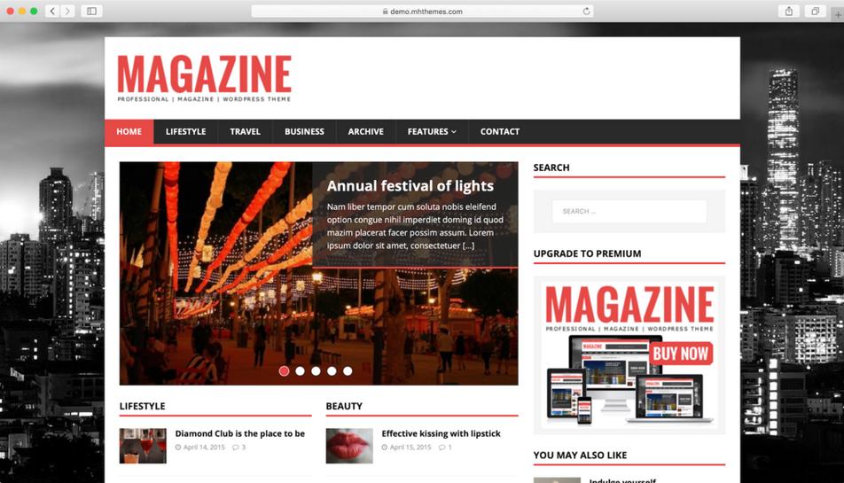 MH magazine lite tema wordpress terbaik