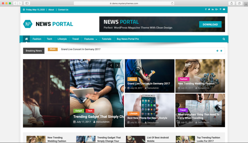 temaa wordpress gratis news portal