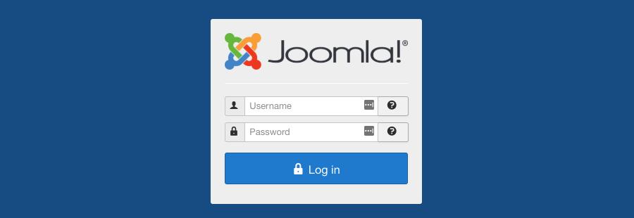 Halaman login admin Joomla