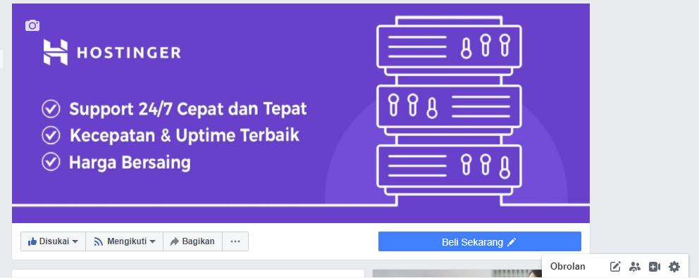 Facebook Hostinger Indonesia