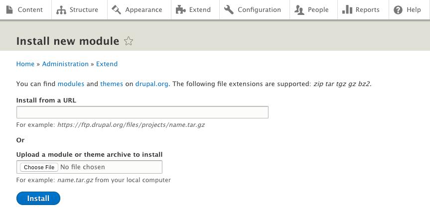 Install module Drupal