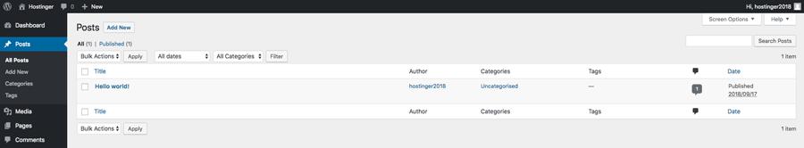 Manajemen post WordPress