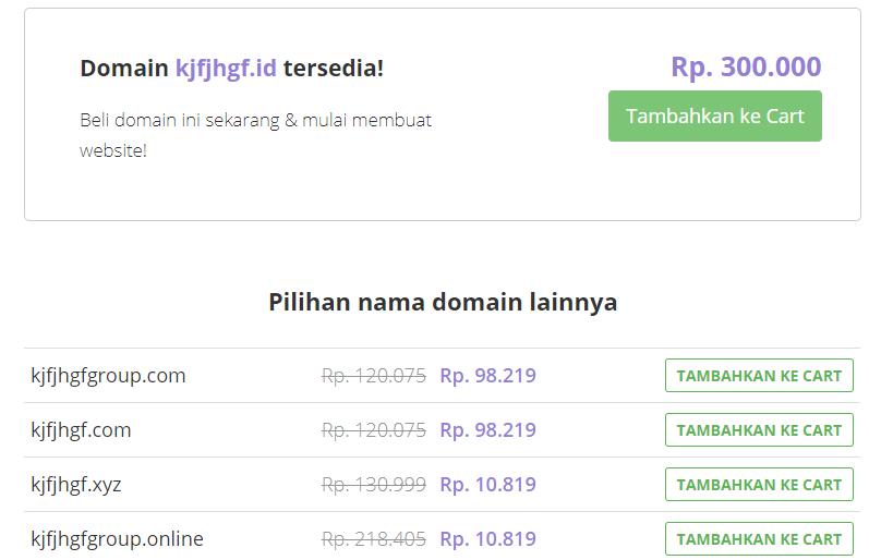 Nama domain tersedia