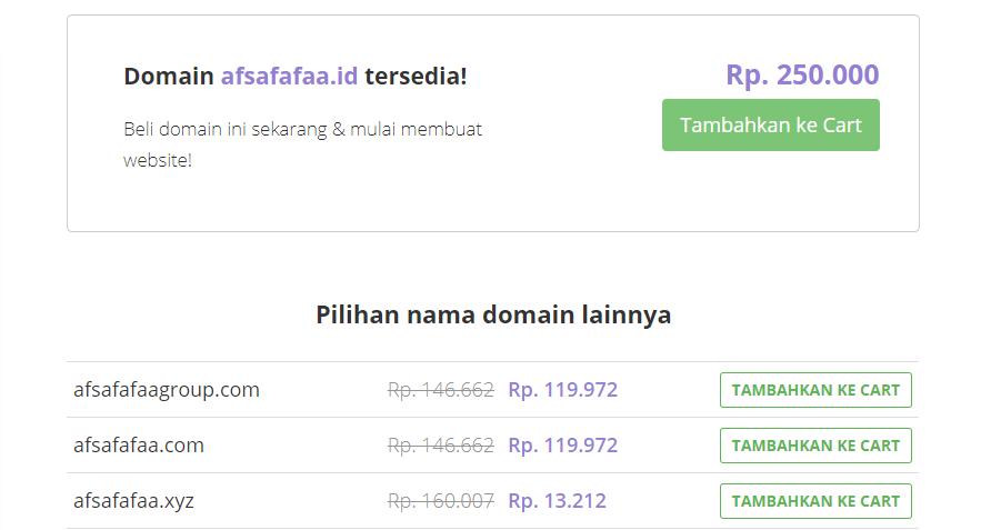 Mencari nama domain dengan tool khusus