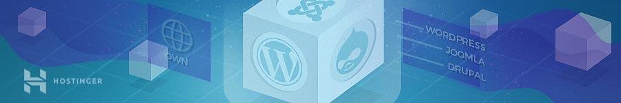 Pilih platform dan buat website