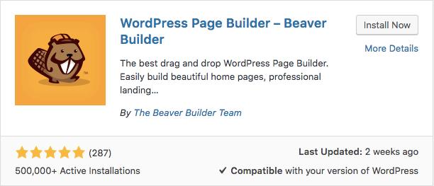 Plugin Beaver Builder WordPress
