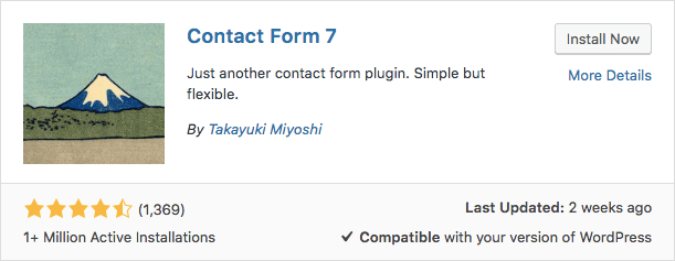 Plugin Contact Form 7 WordPress