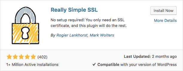 Plugin Really Simple SSL WordPress