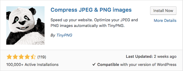Plugin TinyPNG WordPress