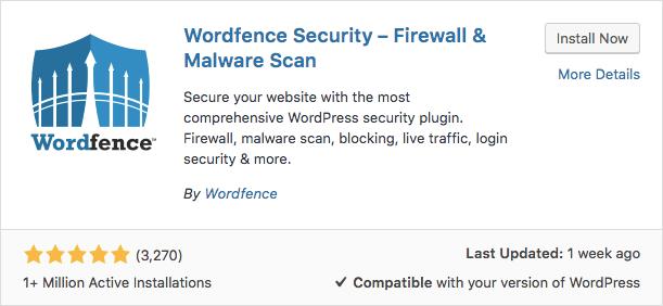 Plugin WordFence WordPress