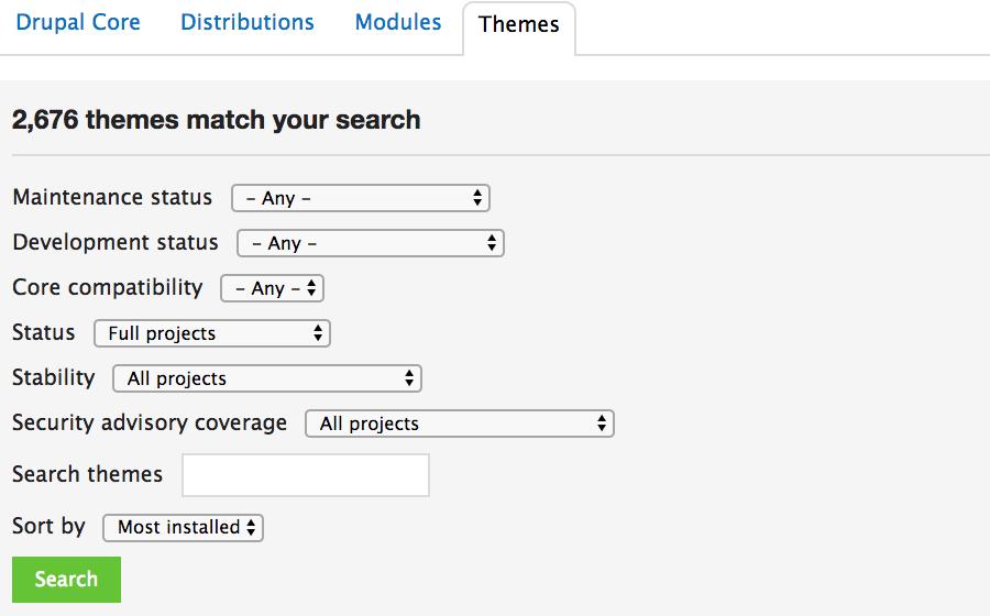 Repositori resmi tema Drupal
