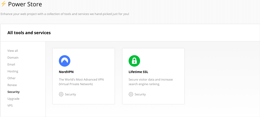 SSL Seumur hidup di Power Store