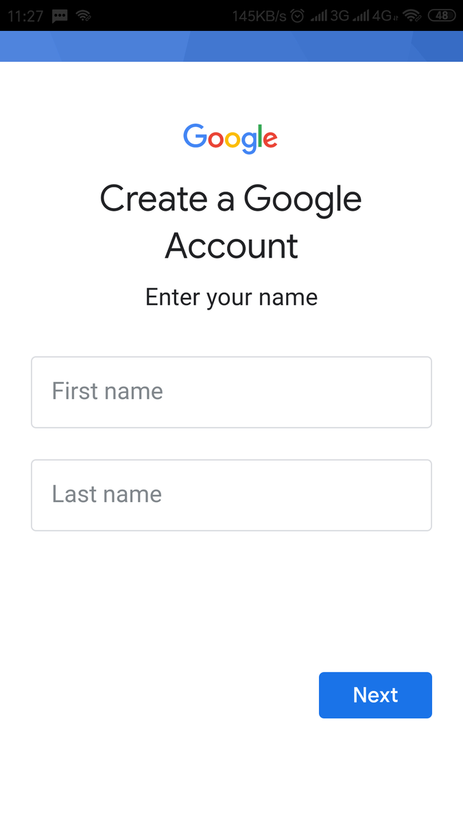 Isi nama depan dan nama belakang