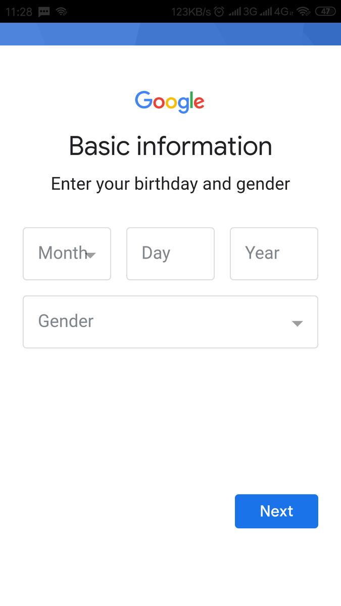 lengkapi tanggal lahir dan jenis kelamin
