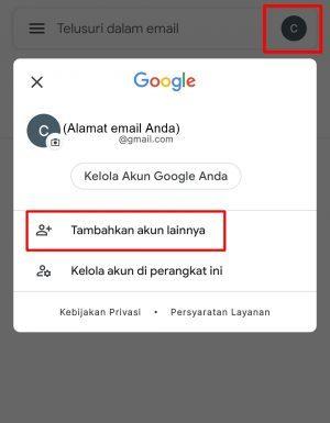 Tambahkan akun lainnya untuk buat Gmail baru