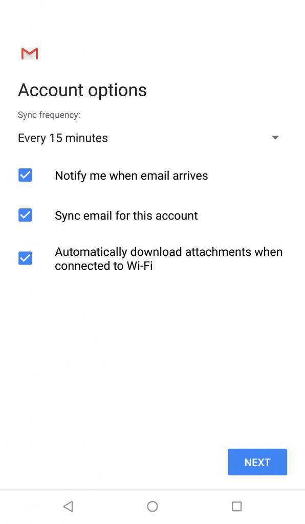 Opsi akun - Account options