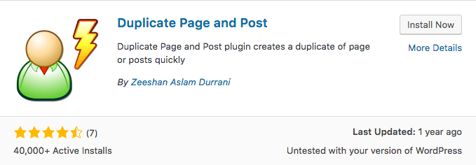 Plugin Duplicate Page and Post WordPress