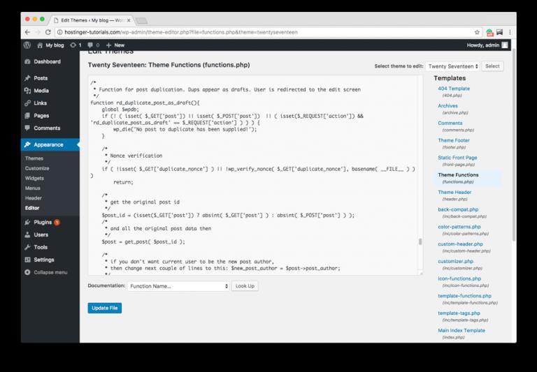 Tambah fitur ke Duplicate WordPress Page