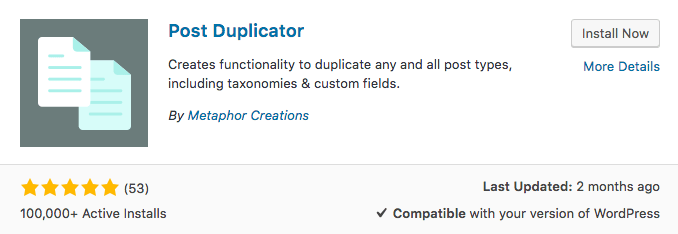 Post Duplicator WordPress