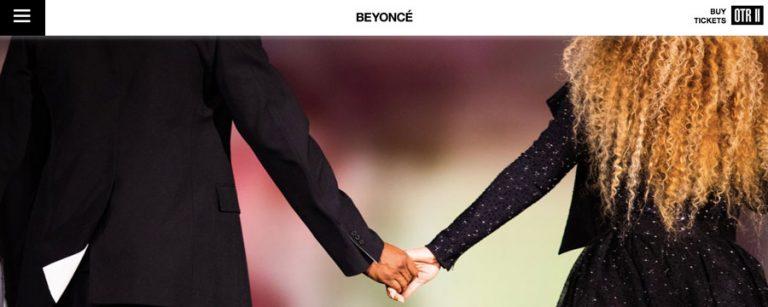 Beyonce membuat website resmi di WordPress