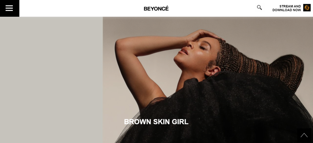 Website WordPress Beyonce