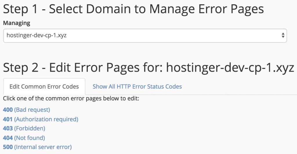 Daftar Kode Error