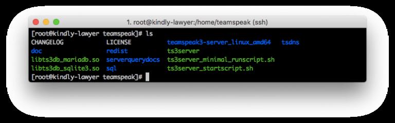 File server TeamSpeak 3 yang terdaftar