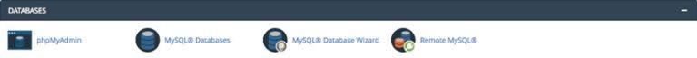 Fitur manajemen database cPanel