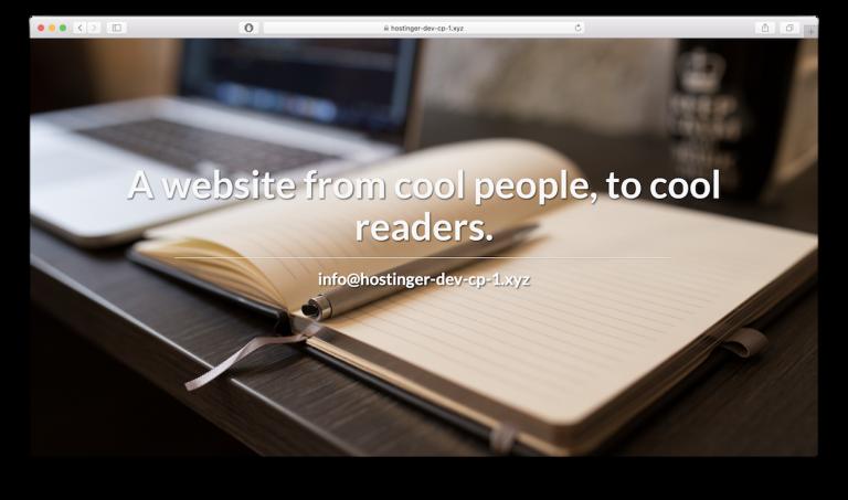 Hasil akhir site publisher