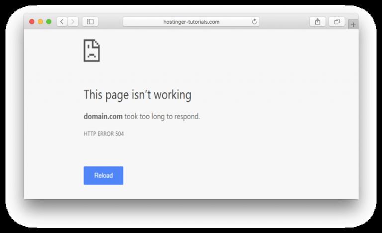 504 gateway time-out yang ditampilkan sebagai HTTP Error 504