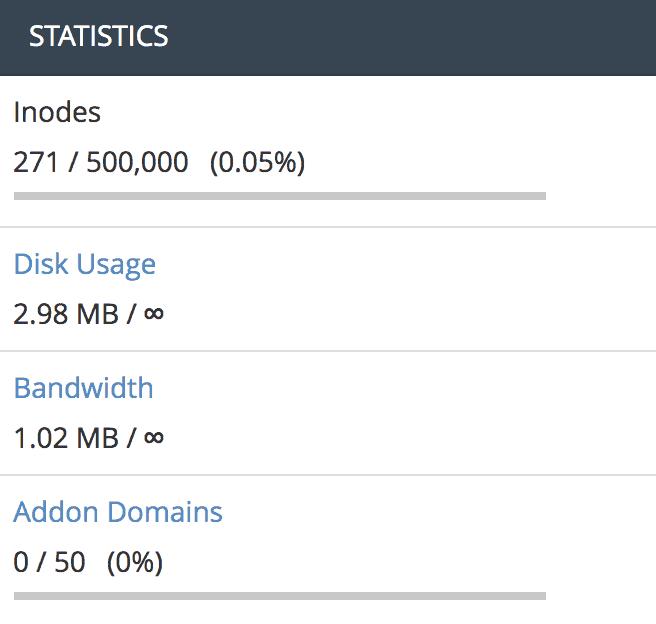 Cara menggunakan cPanel - laporan bandwidth